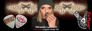Miranda Lambert Guitar Picks, Personalized