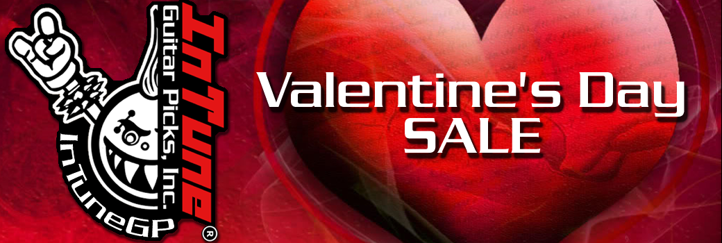 Valentines Custom Guitar Picks Sale