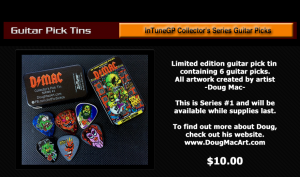 Guitar Pick Tins Doug Mac, Personalized
