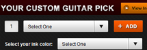 Custom Guitar Picks Ordering