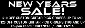Custom Printed Guitar Picks for New Years