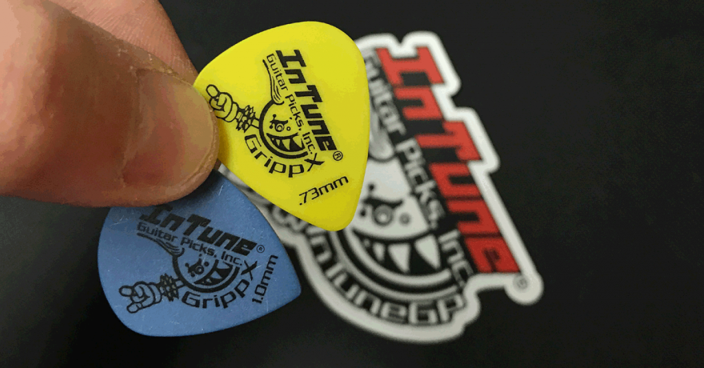 InTuneGP GrippX Jumbo Jazz Custom Guitar Picks