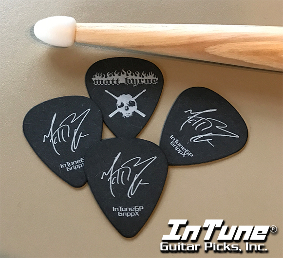 Custom Guitar Picks instead of drumsticks