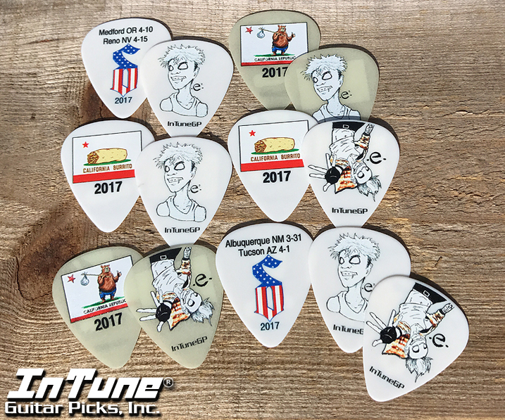 Shinedown's Eric Bass Custom Guitar Picks
