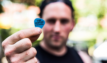 Custom Guitar Picks Tom of The Bottom Line