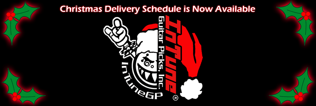 Custom Guitar Picks Christmas Delivery Schedule