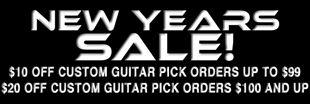 New Year Celebration Guitar Pick Sale