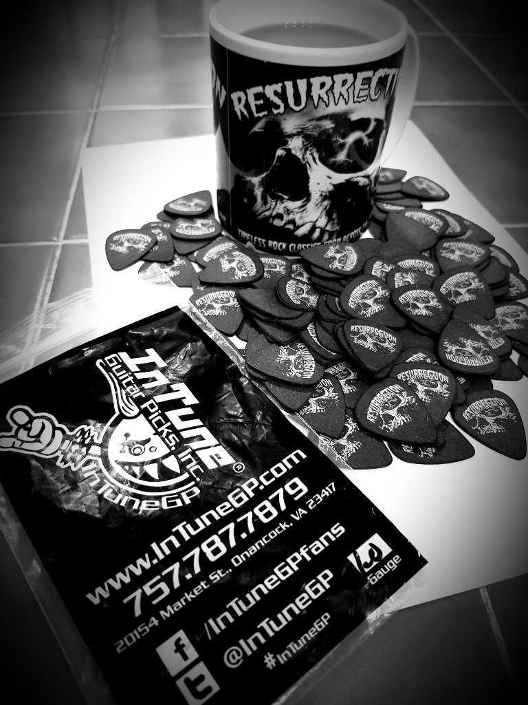 Coffee, Custom Guitar Picks and Heavy Metal
