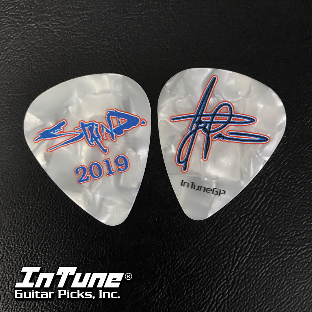 Custom Guitar Picks for Aaron Lewis