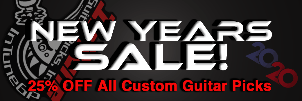 2020 New Years Custom Guitar Pick Sale